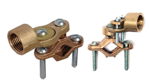 Copper Bronze Ground Rod Clamps with Hubs