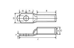 Long Barrel Copper Terminals lugs